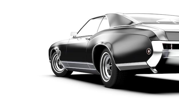 Oid generisches schwarzes auto ohne markenzeichen, isoliert auf weiß