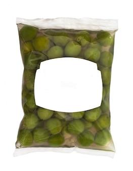 Oliven in plastikbox oberfläche