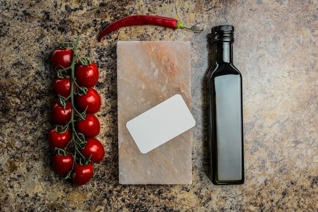 Oliven und olivenöl im studio
