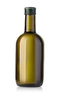 Olivenölflasche auf weiß