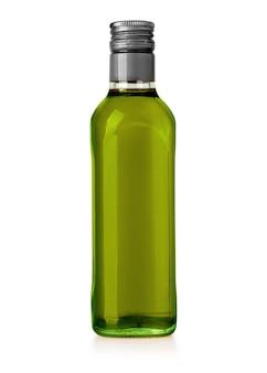 Olivenölflasche isoliert auf weiss mit beschneidungspfad