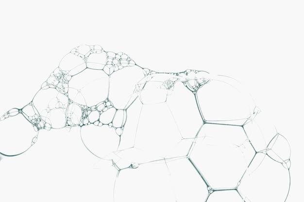 Olivgrüne seifenblase auf weißem kunsthintergrund minimaler art