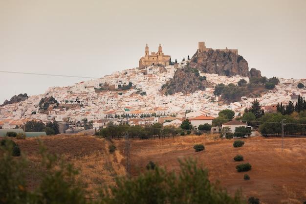 Olvera eine der berühmten weißen städte von cadiz-region bei andalusien, spanien.