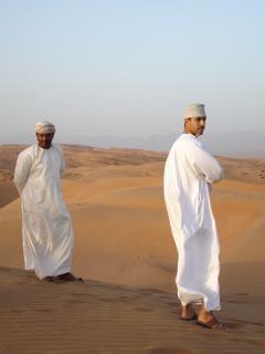 Omanischen wüste menschen, menschen