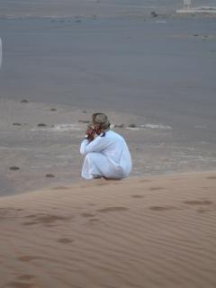 Omanischen wüste menschen, safari