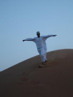 Omanischen wüste menschen