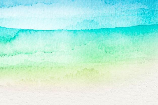 Ombre grüne aquarellart-hintergrundillustration