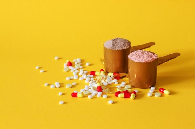 Omega-3-tabletten und kapseln