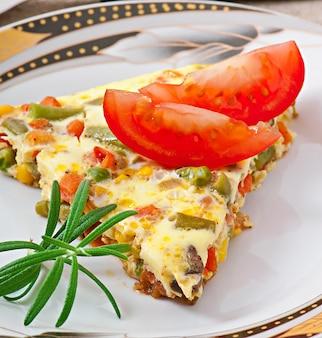 Omelett mit gemüse