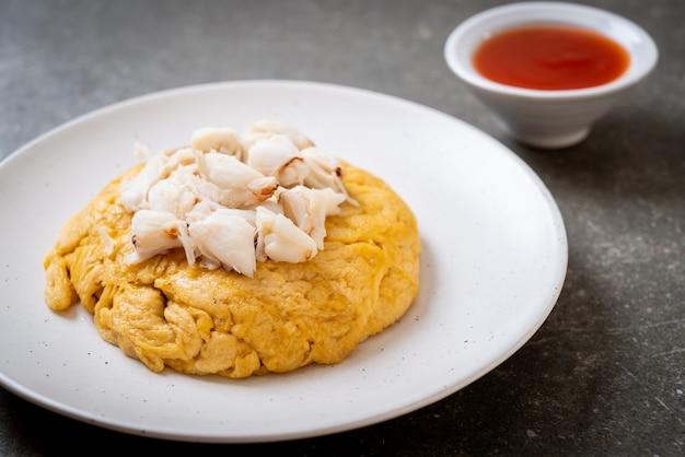 Omelett mit krabbenfleisch