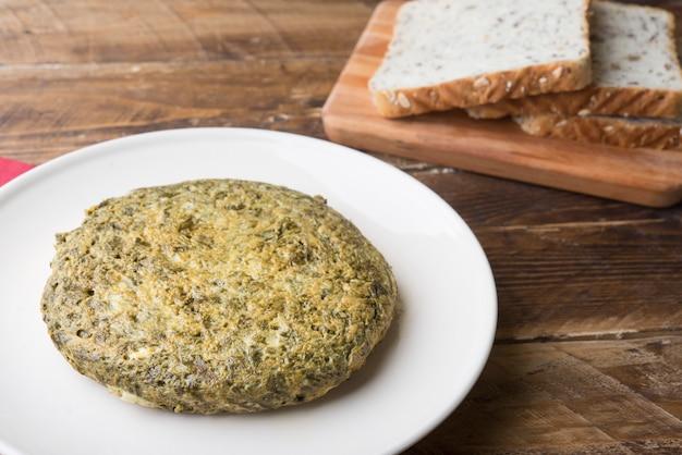 Omelett-spinat