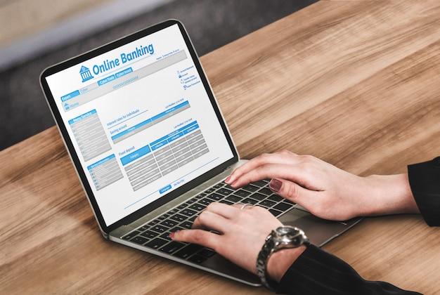 Online-banking für die digitale geldtechnologie