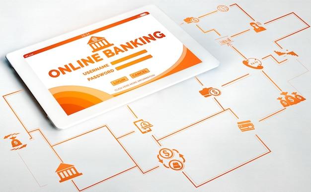 Online-banking für digitale geldtechnologie