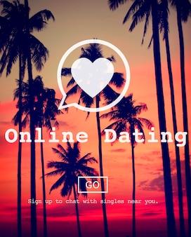 Online-datierung, die on-line-nachrichtenübermittlungs-sozialnetz-konzept umwerben