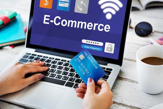Online-einkauf zahlung e-commerce-banking