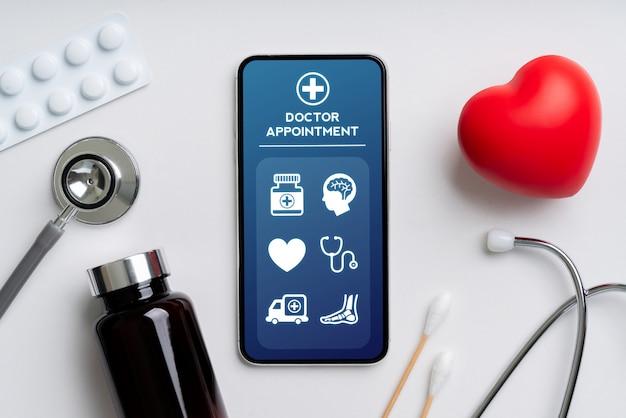 Online-gesundheitsanwendung auf dem smartphone