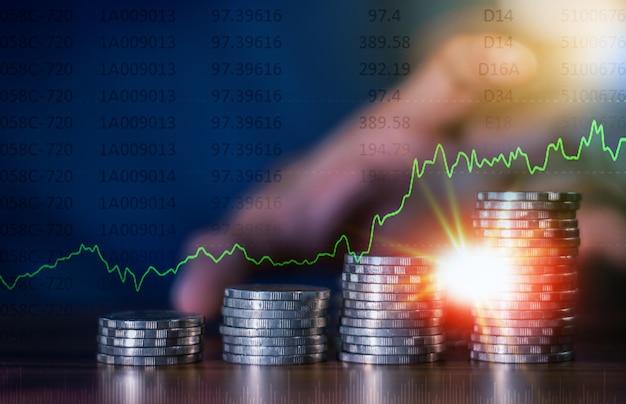 Online-handel mit geldanlagegeschäften, geldwachstum