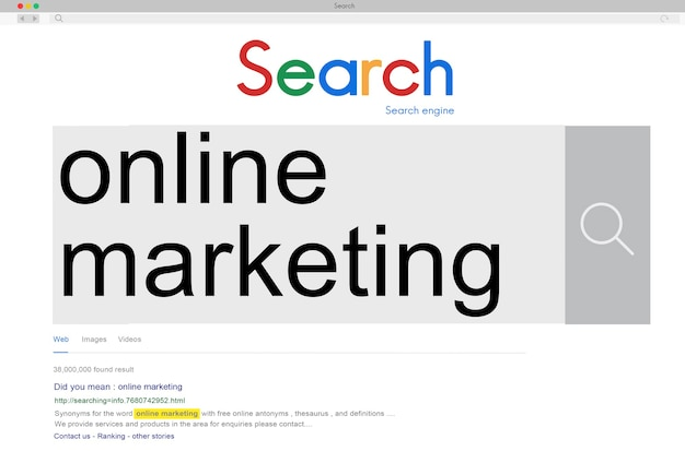 Online-marketing-werbung branding-commerce-konzept