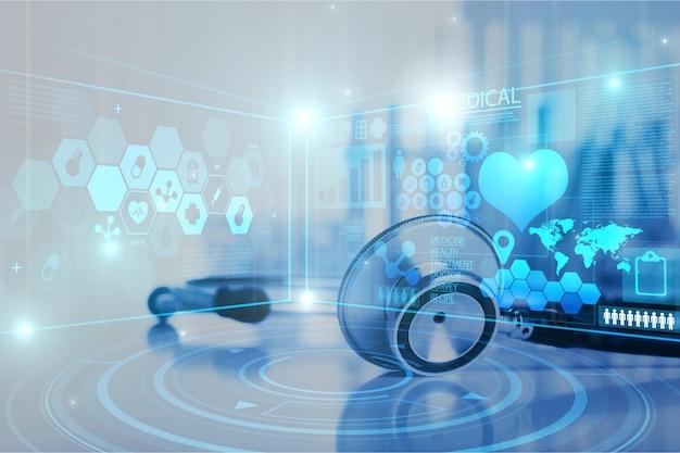 Online-medizin und gesundheitswesen - image