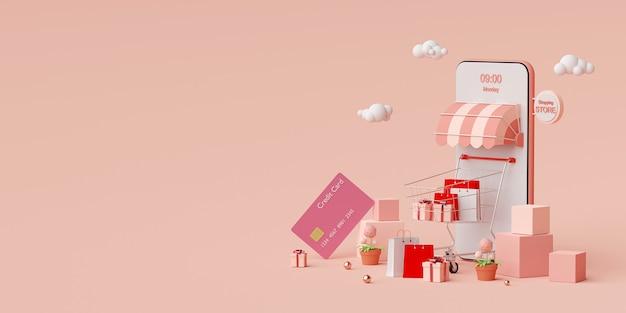 Online-shopping auf dem smartphone per kreditkarte