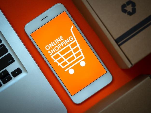 Online-shopping-konzept. wörter