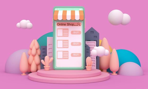 Online-shopping mobile anwendung