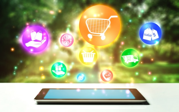 Online-shopping und internet-geld-technologie