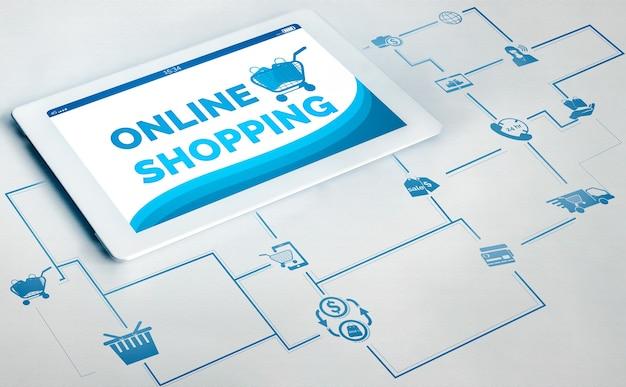 Online-shopping und internet-geldzahlungstransaktionstechnologie