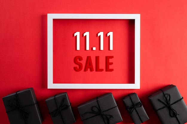 Online-shopping von china, 11.11 singles day sale-konzept.