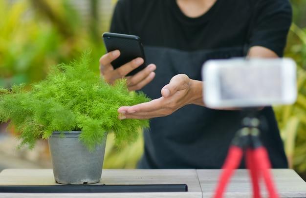 Online v logger training für kaktuspflanzung und hausgartenarbeit, arbeiten von zu hause aus im internet