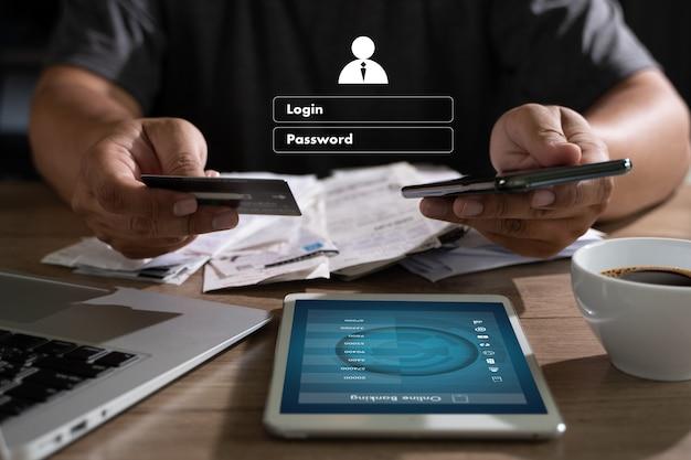 Online-zahlungen mit geschäftstechnologie