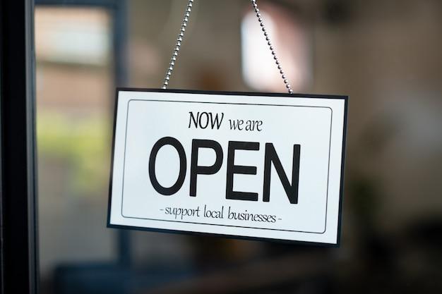 Open sign support für lokale unternehmen