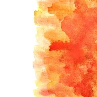 Orange aquarell abstrakten hintergrund mit pinselstrichen. element für ihr design