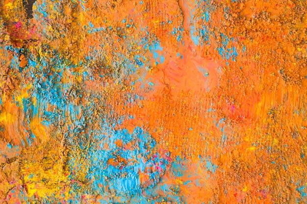 Orange blau lackierte oberfläche