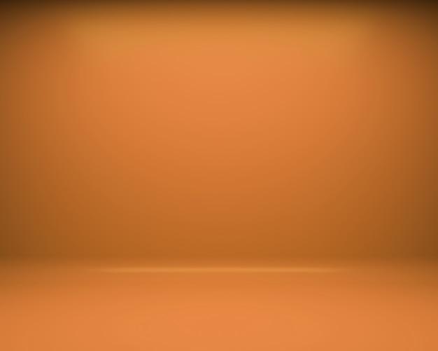 Orange boden- und wandhintergrund. 3d-rendering