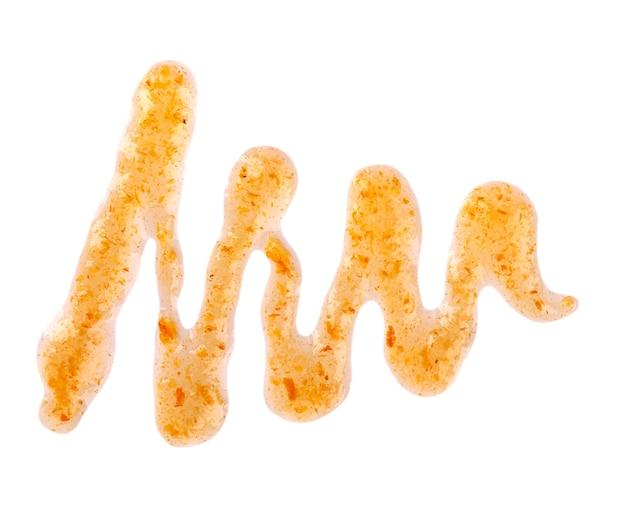 Orange dicker marmeladennieselregen