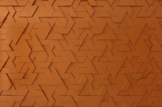 Orange dreidimensionaler hintergrund