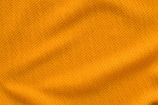 Orange farbe sportbekleidung stoff trikot fußball shirt textur draufsicht
