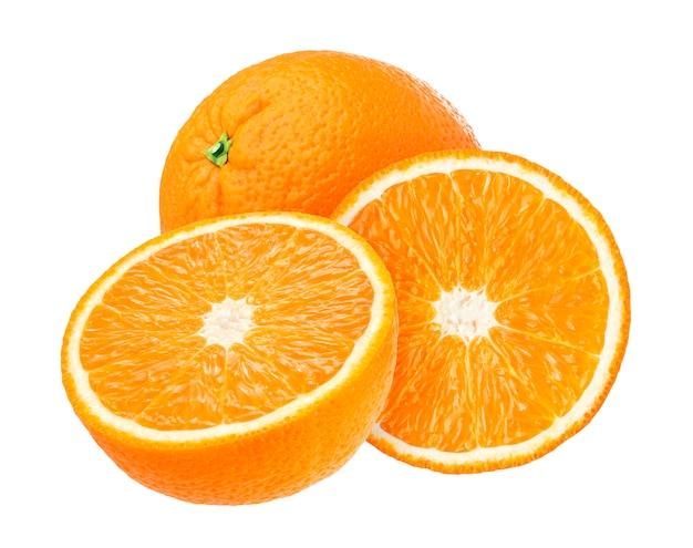 Orange frucht getrennt auf weiß