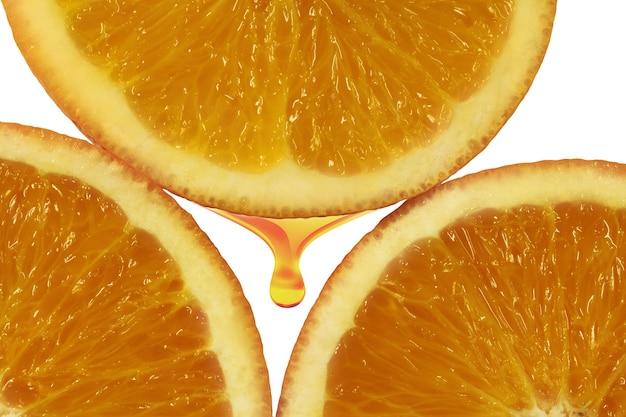 Orange fruchtfleisch nahaufnahme frischer hintergrund