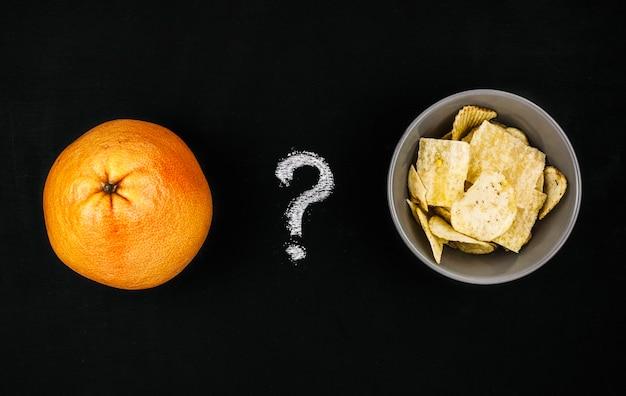 Orange gegen chips
