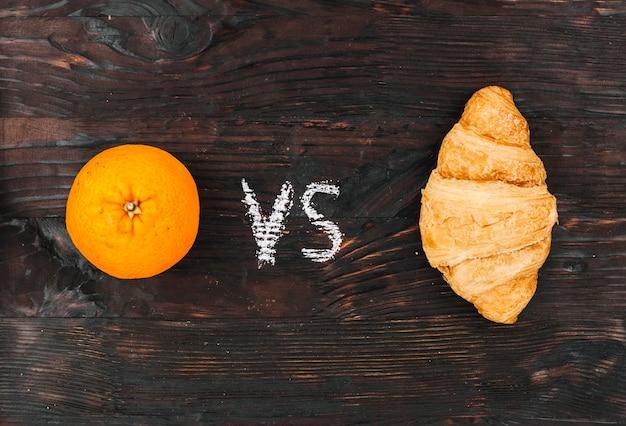 Orange gegen crossiant