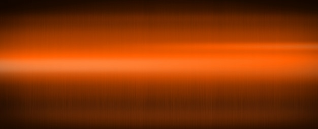 Orange glänzendes gebürstetes metall. banner hintergrund textur wallpaper
