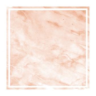 Orange hand gezeichneter rechteckiger rahmen des aquarells