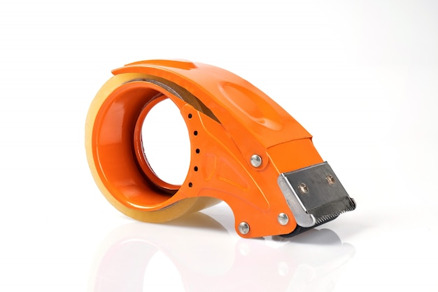Orange klares band einzeln isoliert auf weißer wand