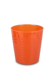 Orange kunststoffglas
