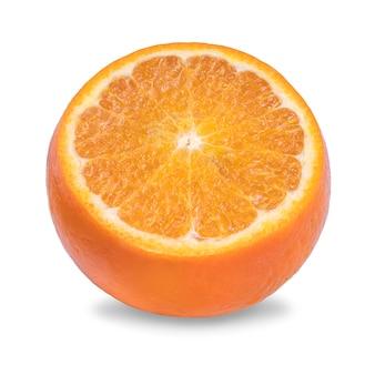 Orange lokalisiert auf weißem hintergrund mit beschneidungspfad.
