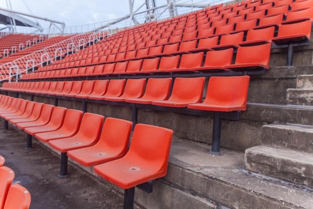 Orange sitz des fußballstadions in thailand