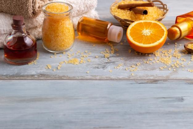 Orange spa und wellness-umgebung