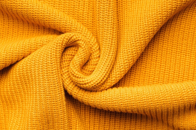 Orange textil hintergrund strickwaren.